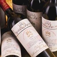 самые дорогие бутылки спиртных напитков Chateau Mouton Rothschild 1945 года