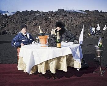 Романтическое свидание на вершине вулкана