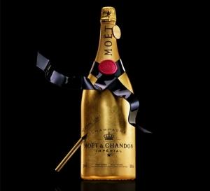 Эксклюзивная бутылка шампанского Moet et Chandon Golden Premium Jeroboam