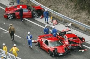 В Японии произошло «самое дорогостоящее» столкновение автомобилей в мире