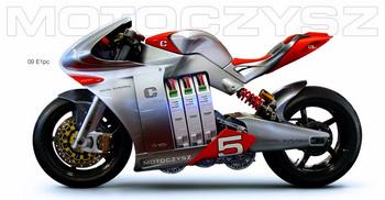 MotoCzysz E1PC - мотоцикл будущего с электрическим двигателем
