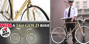 «Золотой» велосипед - не роскошь, а средство передвижения
