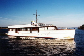 Яхта Honey Fitz на реставрации