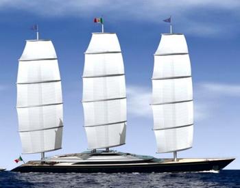Новая яхта Maltese Falcon обрела длину больше 100 метров