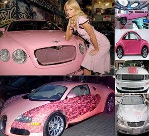Розовые автомобили – новый модный тренд