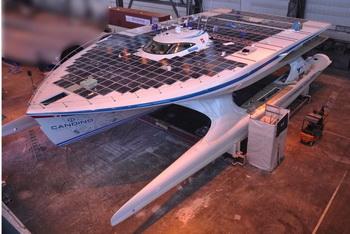 Самая большая яхта на солнечных батареях