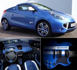 Gibson и Renault выпустили машину и гитару в стиле Gordini для Rock en Seine