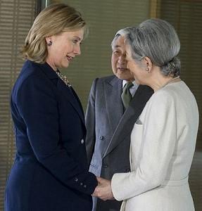 Император Японии принял Хиллари Клинтон