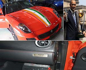 Капитан сборной Индии по крикету получил в подарок Ferrari 599 GTO