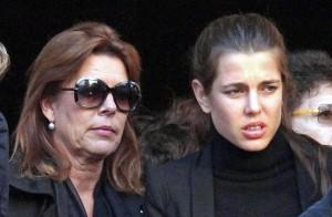 Принцесса Каролина на похоронах невестки