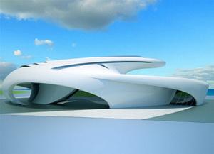 Jet House - новый футуристический проект Jerome Olivet