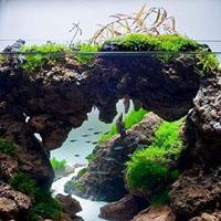 Натуральные камни в искусственном домашнем водоеме: правильное использование
