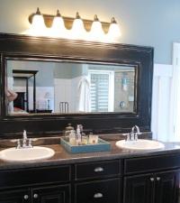 Как сделать раму для зеркала в ванной комнате – декор своими руками