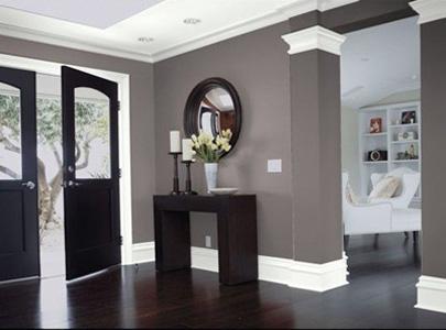 Темные цвета в декоре комнаты