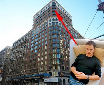 Мэтт Деймон покупает недвижимость на 535 West End Avenue