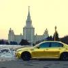 Золотой BMW M5 появился на дорогах Москвы